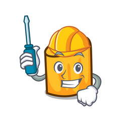 Automotive rigatoni mascot cartoon style vector