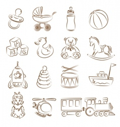 Babies toys vector