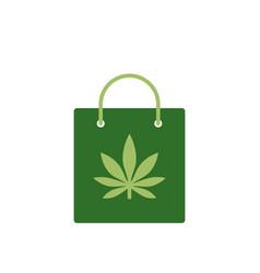 Bag of medicinal cannabis bag with marijuana vector