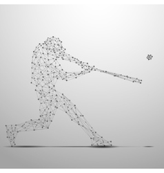 Ballplayer poly gray vector image