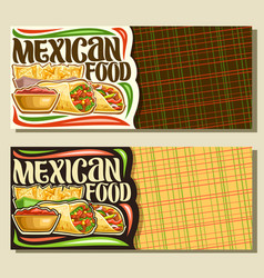 Banners for mexican food vector