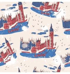 Big ben and house parliament london uk vector