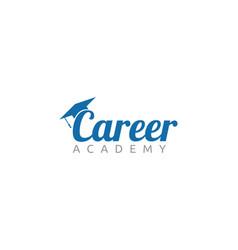 Career academy logo design vector