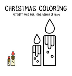 christmas coloring actvity book for kids below 3 vector image