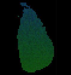 circle dot sri lanka island map vector image
