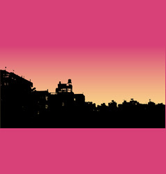 City landscape silhouette realistic on vector