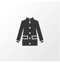 coat icon symbol premium quality isolated jacket vector image