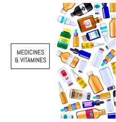 color pharmacy medicine bottles background vector image