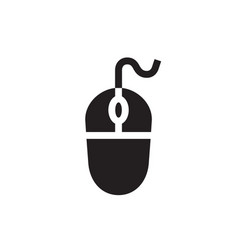 Computer mouse - black icon on white background vector