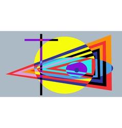 cross and eye vector image vector image