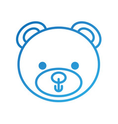 cute teddy bear head toy chilhood vector image