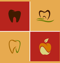 dental teeth logos vector image