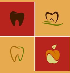 dental teeth logos vector image