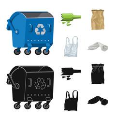 Design of dump and sort icon set of dump vector