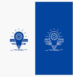 development idea bulb pencil scale line and glyph vector image