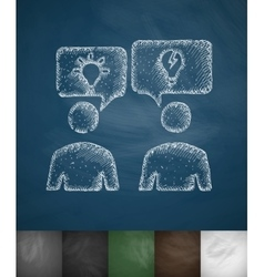 Discussion of ideas icon vector