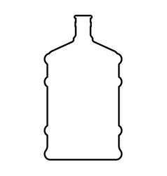 dispenser large bottles black color icon vector image