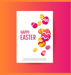 easter sale banner background template vector image