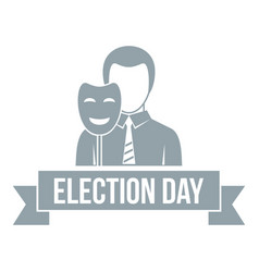 Election day logo simple gray style vector