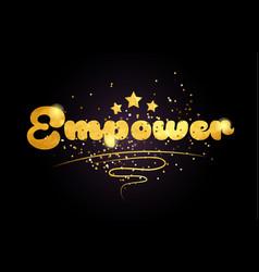 Empower star golden color word text logo icon vector