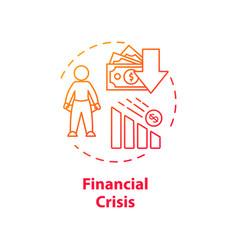 Financial crisis concept icon vector