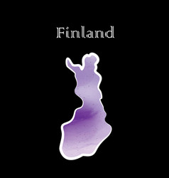 finland map vector image