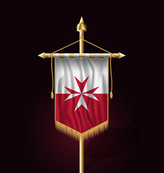 Flag of malta version with maltese cross festive vector