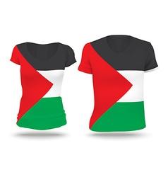 Flag shirt design of West Bank vector image