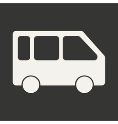 Flat in black and white mobile application bus vector