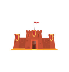 fortress with iron grating on entrance defensive vector image