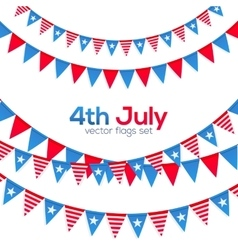 fourth july usa independence day triangular vector image