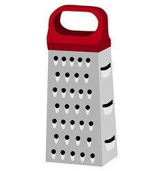 Grater with red handle vector
