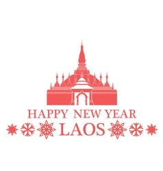 Greeting Card Laos vector image
