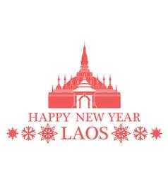 Greeting Card Laos vector