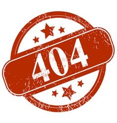 Grunge 404 error vector