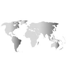 halftone world outline vector image