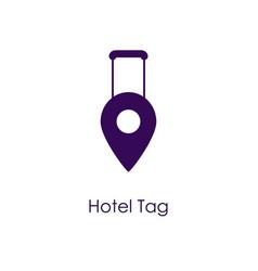 Hotel tag icon vector