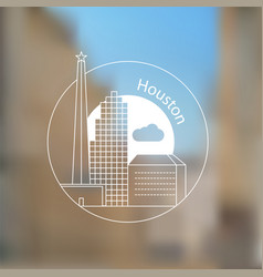houston usa detailed silhouette vector image