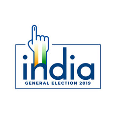 indian general election 2019 voting concept design vector image