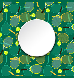 Invitation card with tennis rackets and balls vector