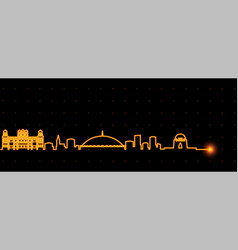 karachi light streak skyline vector image