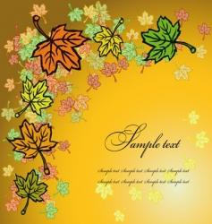 leaves greetings card vector image vector image