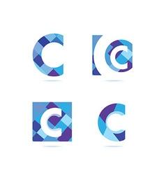 Letter c logo set vector image