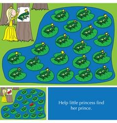 Little princess puzzle vector image