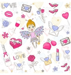 Love set icon vector image
