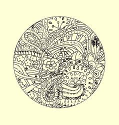 mandala ornament decorative doodles in entangle vector image