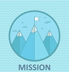 Mission mountain climb logo design template in vector