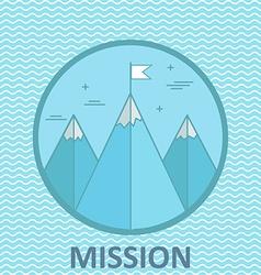 Mission mountain climb logo design template vector