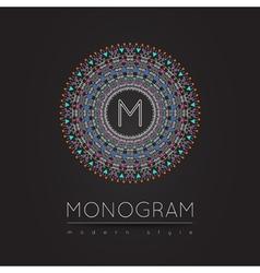 MONOGRAM icon vector