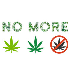 No more text collage of marijuana vector